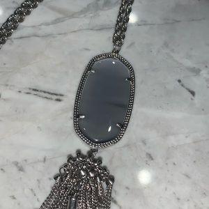 Kendra Scott silver RAYNE necklace